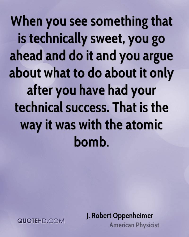 Oppenheimer Quote Jrobert Oppenheimer Success Quotes  Quotehd