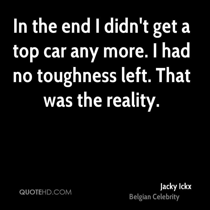 In the end I didn't get a top car any more. I had no toughness left. That was the reality.
