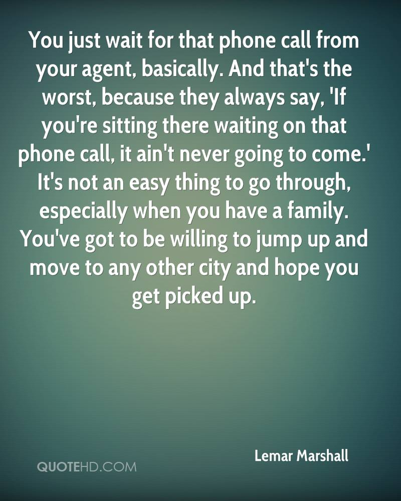 Phone Call Quotes Lemar Marshall Quotes  Quotehd