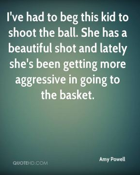 I've had to beg this kid to shoot the ball. She has a beautiful shot and lately she's been getting more aggressive in going to the basket.