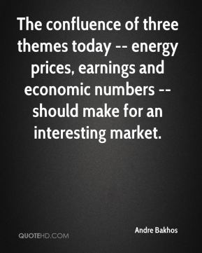 The confluence of three themes today -- energy prices, earnings and economic numbers -- should make for an interesting market.