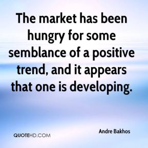 The market has been hungry for some semblance of a positive trend, and it appears that one is developing.