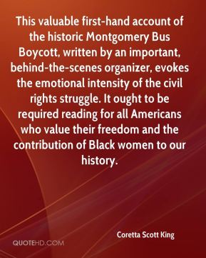 This valuable first-hand account of the historic Montgomery Bus Boycott, written by an important, behind-the-scenes organizer, evokes the emotional intensity of the civil rights struggle. It ought to be required reading for all Americans who value their freedom and the contribution of Black women to our history.