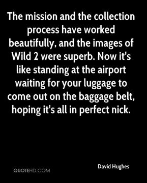 The mission and the collection process have worked beautifully, and the images of Wild 2 were superb. Now it's like standing at the airport waiting for your luggage to come out on the baggage belt, hoping it's all in perfect nick.