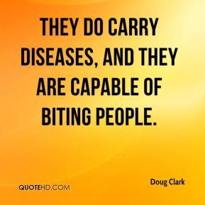 Doug Clark - They do carry diseases, and they are capable of biting people.
