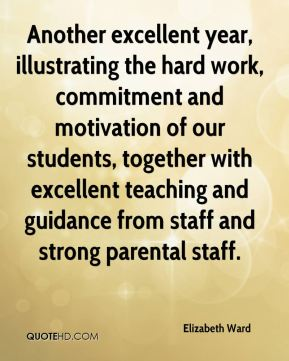 Elizabeth Ward - Another excellent year, illustrating the hard work, commitment and motivation of our students, together with excellent teaching and guidance from staff and strong parental staff.