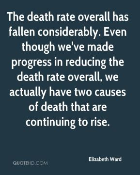 Elizabeth Ward - The death rate overall has fallen considerably. Even though we've made progress in reducing the death rate overall, we actually have two causes of death that are continuing to rise.