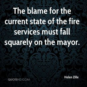 The blame for the current state of the fire services must fall squarely on the mayor.