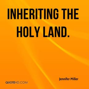 Inheriting the Holy Land.