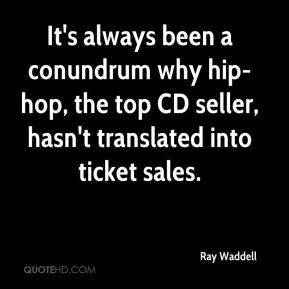 It's always been a conundrum why hip-hop, the top CD seller, hasn't translated into ticket sales.