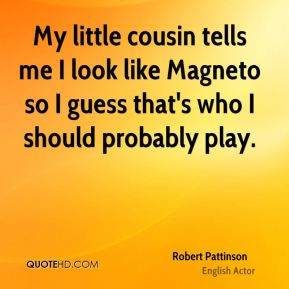 My little cousin tells me I look like Magneto so I guess that's who I should probably play.