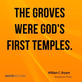The groves were God's first temples.