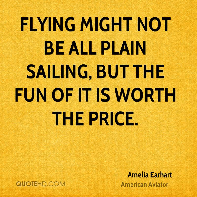 Flying might not be all plain sailing, but the fun of it is worth the price.