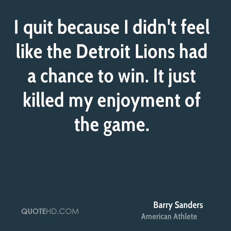 Image result for barry sanders quotes