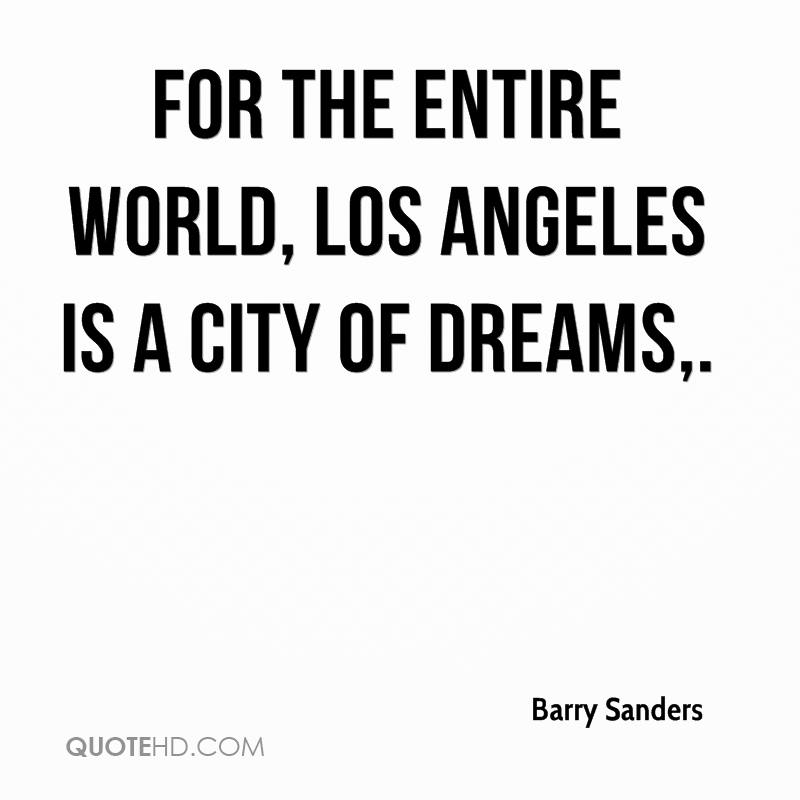 Los Angeles Quotes Delectable Barry Sanders Quotes QuoteHD