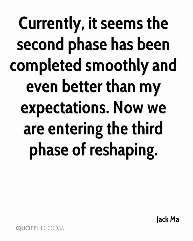 Currently, it seems the second phase has been completed smoothly and even better than my expectations. Now we are entering the third phase of reshaping.