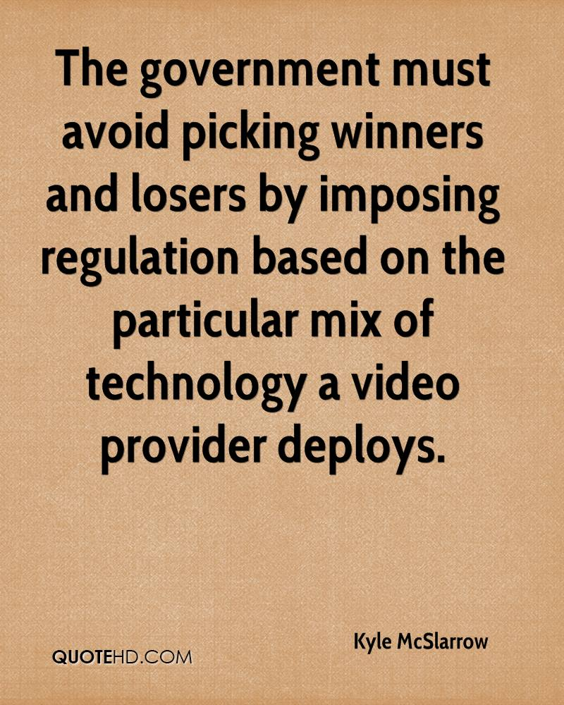 The government must avoid picking winners and losers by imposing regulation based on the particular mix of technology a video provider deploys.