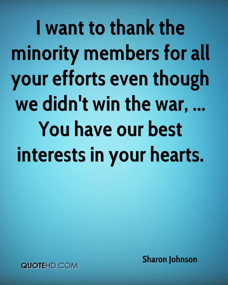 Thanks For All Your Efforts Quotes: Sharon Johnson Quotes