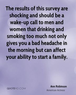 The results of this survey are shocking and should be a wake-up call to men and women that drinking and smoking too much not only gives you a bad headache in the morning but can affect your ability to start a family.