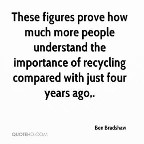 Ben Bradshaw - These figures prove how much more people understand the importance of recycling compared with just four years ago.