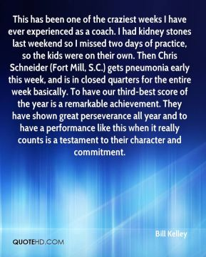 Bill Kelley - This has been one of the craziest weeks I have ever experienced as a coach. I had kidney stones last weekend so I missed two days of practice, so the kids were on their own. Then Chris Schneider (Fort Mill, S.C.) gets pneumonia early this week, and is in closed quarters for the entire week basically. To have our third-best score of the year is a remarkable achievement. They have shown great perseverance all year and to have a performance like this when it really counts is a testament to their character and commitment.