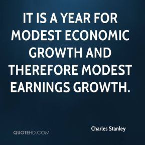 Charles Stanley - It is a year for modest economic growth and therefore modest earnings growth.