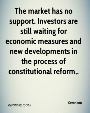 Geronimo - The market has no support. Investors are still waiting for economic measures and new developments in the process of constitutional reform.