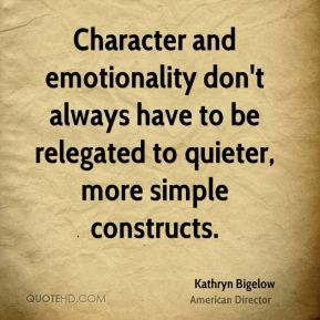 Character and emotionality don't always have to be relegated to quieter, more simple constructs.