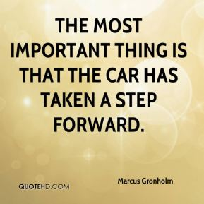 The most important thing is that the car has taken a step forward.
