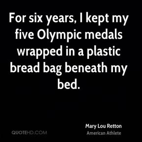For six years, I kept my five Olympic medals wrapped in a plastic bread bag beneath my bed.