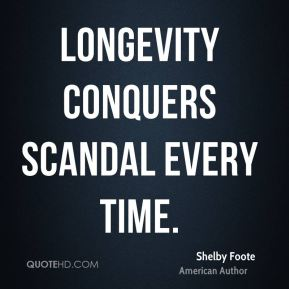 Longevity conquers scandal every time.