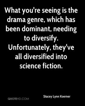 Stacey Lynn Koerner  - What you're seeing is the drama genre, which has been dominant, needing to diversify. Unfortunately, they've all diversified into science fiction.