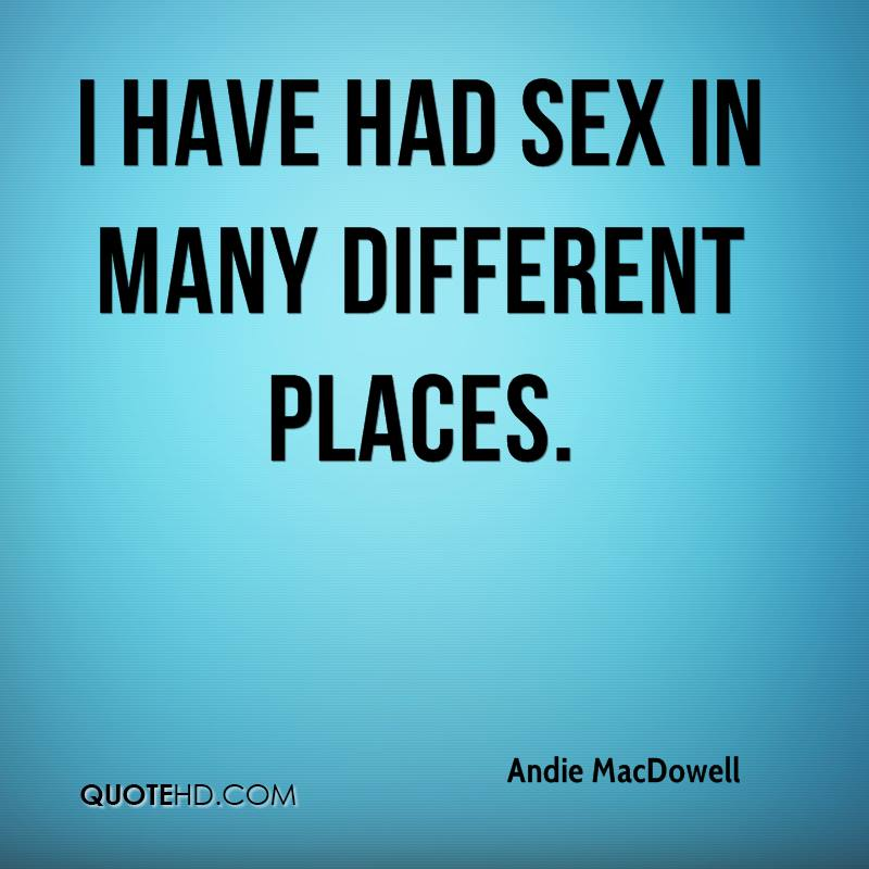 Different places to have sex
