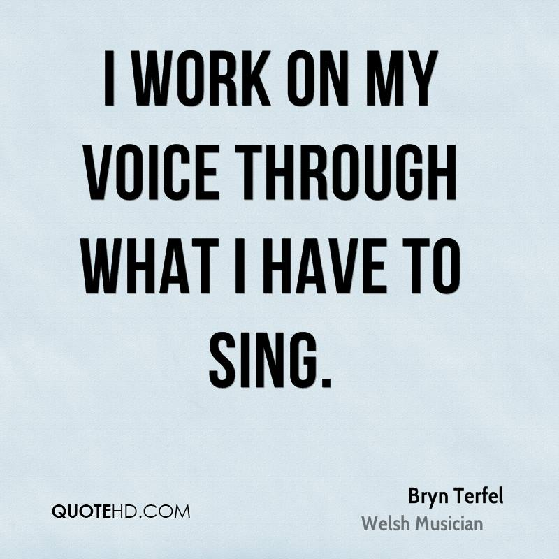 I work on my voice through what I have to sing.