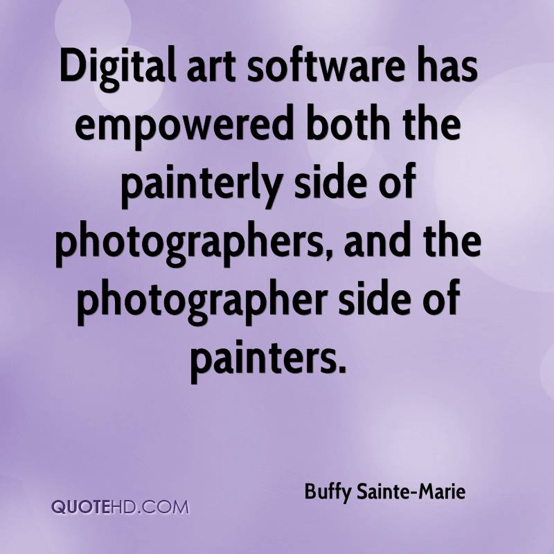 Digital art software has empowered both the painterly side of photographers, and the photographer side of painters.