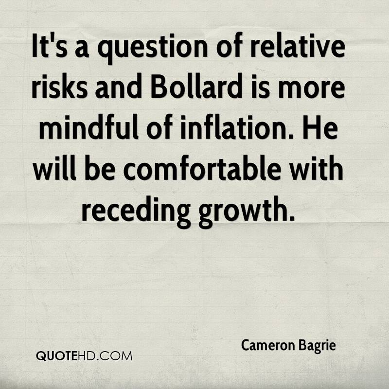 It's a question of relative risks and Bollard is more mindful of inflation. He will be comfortable with receding growth.