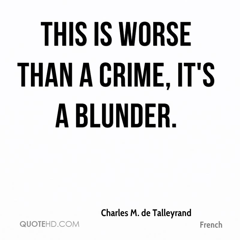 Blunder quotes