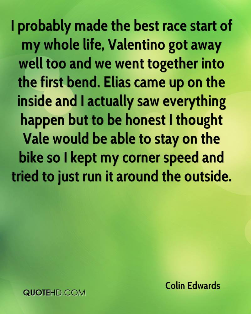 I probably made the best race start of my whole life, Valentino got away well too and we went together into the first bend. Elias came up on the inside and I actually saw everything happen but to be honest I thought Vale would be able to stay on the bike so I kept my corner speed and tried to just run it around the outside.