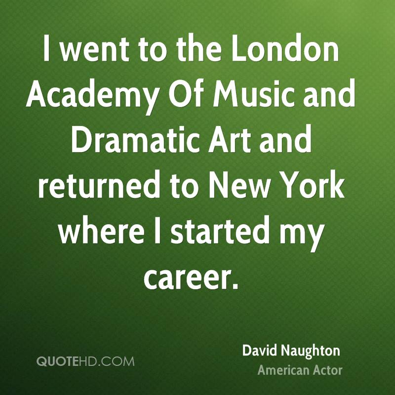 went to the London Academy Of Music and Dramatic Art and returned to ...