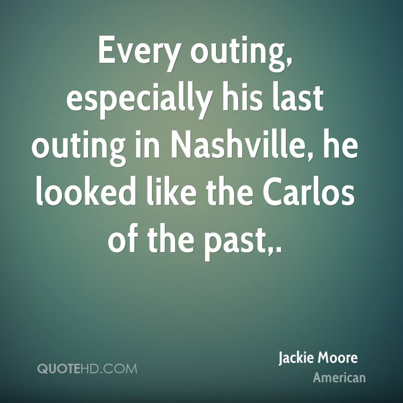 Every outing, especially his last outing in Nashville, he looked like the Carlos of the past.