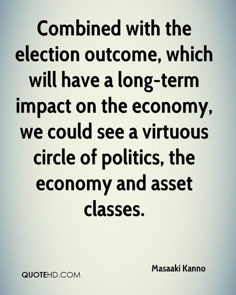 Combined with the election outcome, which will have a long-term impact on the economy, we could see a virtuous circle of politics, the economy and asset classes.