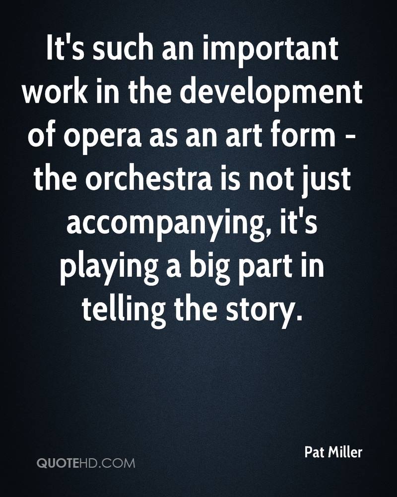 It's such an important work in the development of opera as an art form - the orchestra is not just accompanying, it's playing a big part in telling the story.