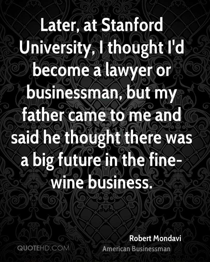 I'd like to be a lawyer...?