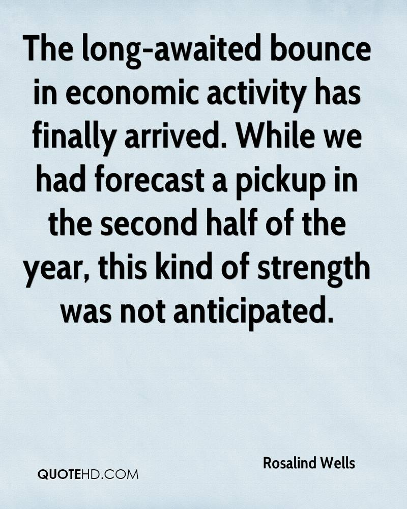 The long-awaited bounce in economic activity has finally arrived. While we had forecast a pickup in the second half of the year, this kind of strength was not anticipated.