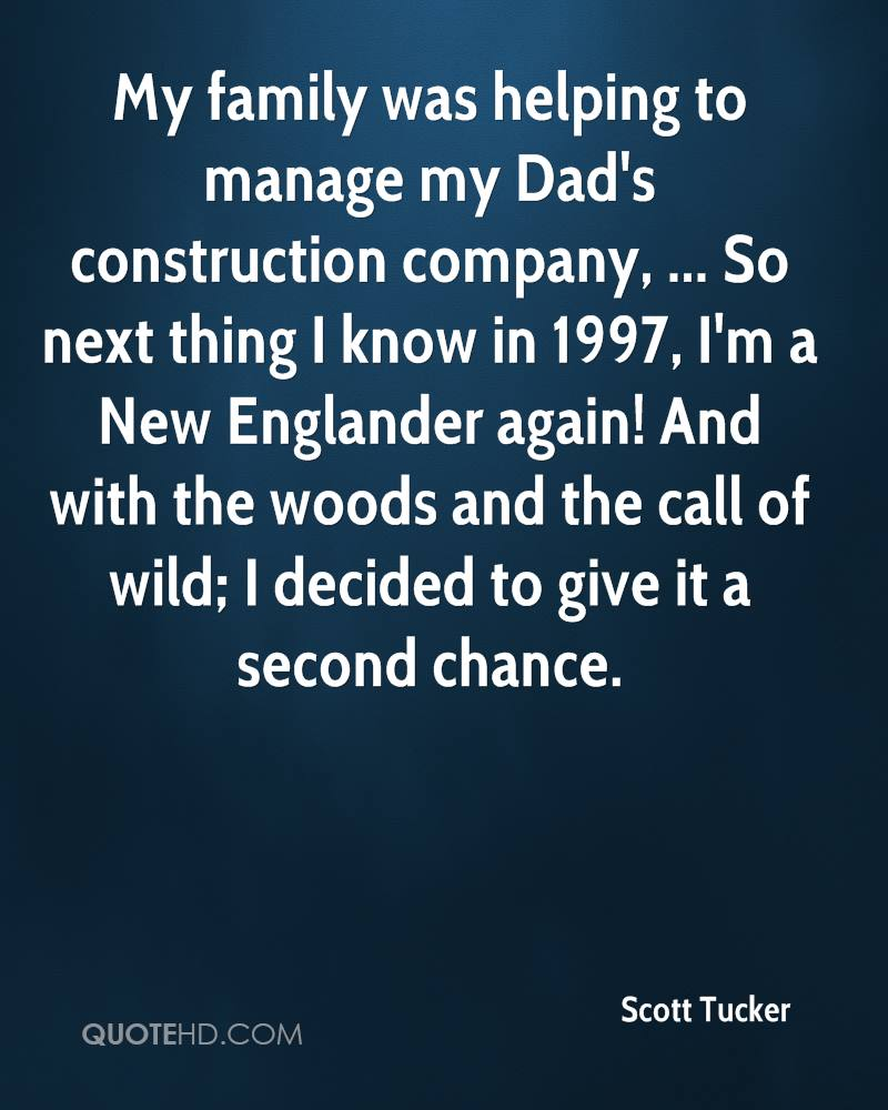 My family was helping to manage my Dad's construction company, ... So next thing I know in 1997, I'm a New Englander again! And with the woods and the call of wild; I decided to give it a second chance.