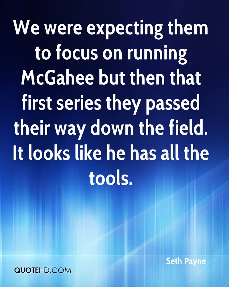 We were expecting them to focus on running McGahee but then that first series they passed their way down the field. It looks like he has all the tools.
