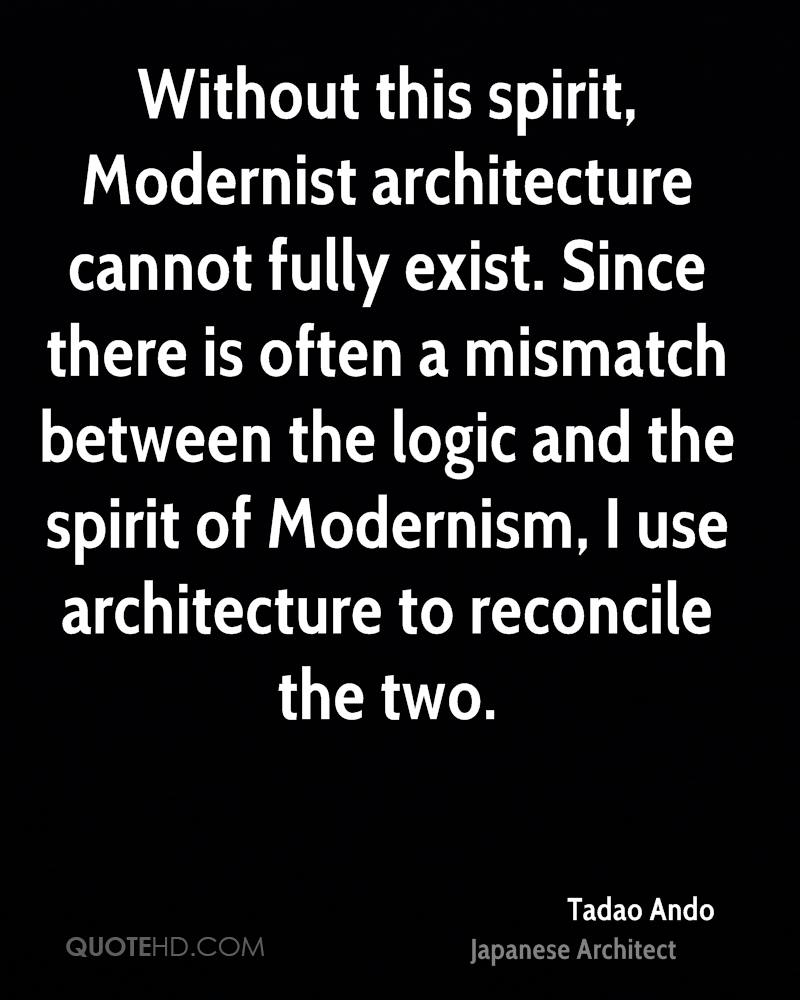 Without this spirit, Modernist architecture cannot fully exist. Since there is often a mismatch between the logic and the spirit of Modernism, I use architecture to reconcile the two.