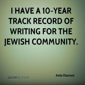 I have a 10-year track record of writing for the Jewish community.