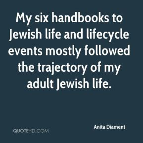 Anita Diament - My six handbooks to Jewish life and lifecycle events mostly followed the trajectory of my adult Jewish life.