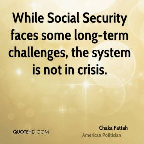 While Social Security faces some long-term challenges, the system is not in crisis.